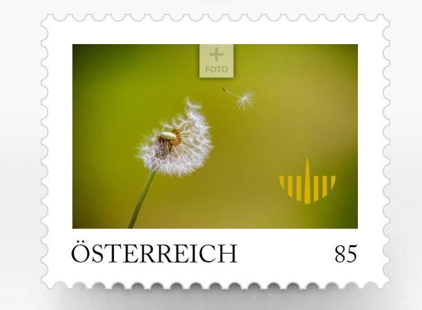 Personalisierte Briefmarke der Bestattung Kärnten Gruppe