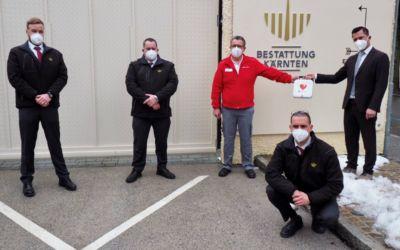 Bestattung Kärnten mit Defibrillatoren ausgestattet